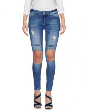 Джинсовые брюки ONLY BLU. Цвет: синий