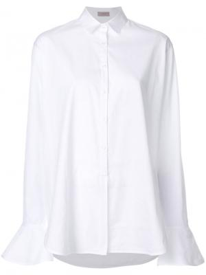 Рубашка с рукавами клеш MRZ. Цвет: белый