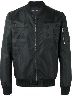 Куртка-бомбер на молнии Letasca. Цвет: чёрный