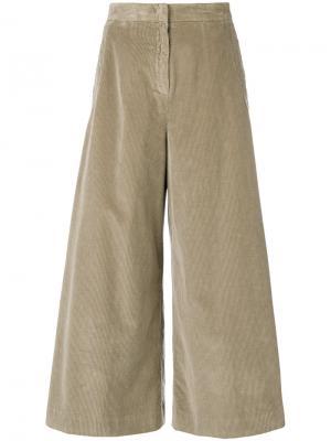 Cropped wide leg trousers Aspesi. Цвет: телесный
