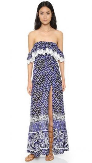 Макси-платье Anemone Lovers + Friends. Цвет: шарф royal