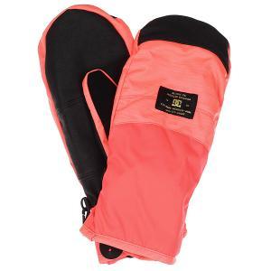 Варежки женские DC Franchise Fiery Coral Shoes. Цвет: розовый