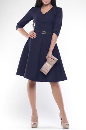 Платье REBECCA TATTI. Цвет: темно-синий