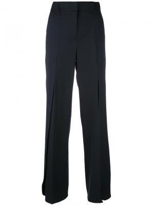 Плиссированные широкие брюки Dorothee Schumacher. Цвет: синий