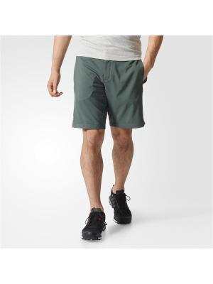 Шорты спортивные муж. MOUNTFLY SHORTS Adidas. Цвет: серо-зеленый