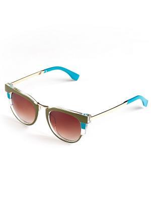 Солнцезащитные очки Selena. Цвет: светло-зеленый, голубой