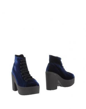Полусапоги и высокие ботинки PEOPLE FOR HAPPINESS. Цвет: синий