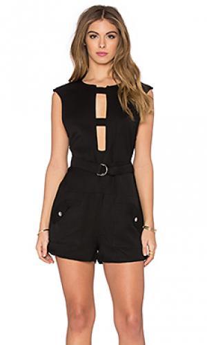 Ромпер capote linen jumpsuit PFEIFFER. Цвет: черный