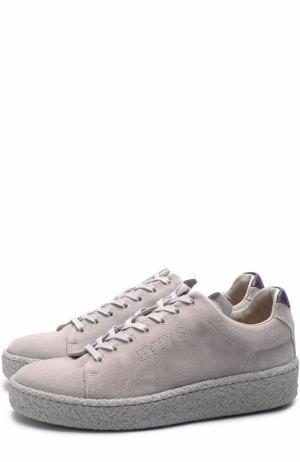 Замшевые кеды Ace на шнуровке Eytys. Цвет: серый
