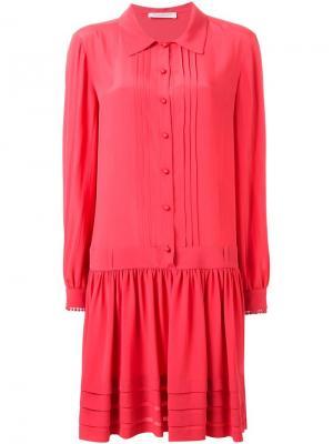 Платье-рубашка свободного кроя Philosophy Di Lorenzo Serafini. Цвет: розовый и фиолетовый