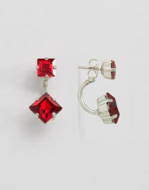 Krystal Серьги с кристаллами Swarovski от. Цвет: красный