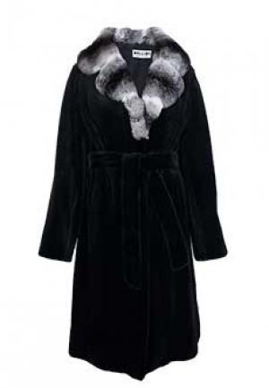 Меховое пальто норка BELLINI. Цвет: черный