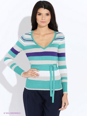 Пуловер Oodji. Цвет: зеленый