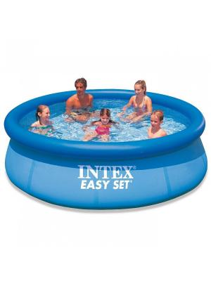 Бассейн Easy Set (надувной верх) 2,44х0,76м Intex. Цвет: голубой