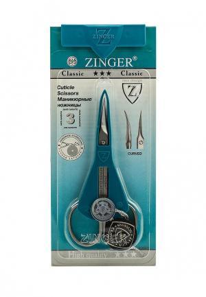 Ножницы для маникюра Zinger. Цвет: серебряный