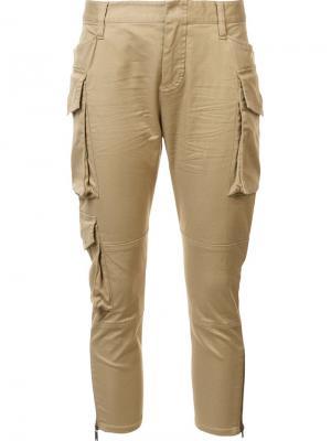 Укороченные брюки карго Dsquared2. Цвет: коричневый