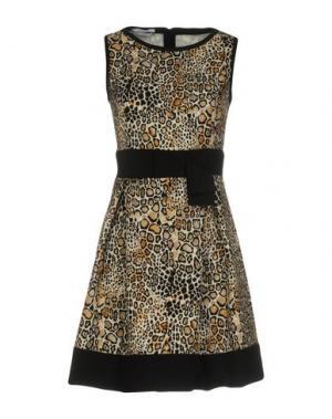 Короткое платье BIANCOGHIACCIO. Цвет: бежевый
