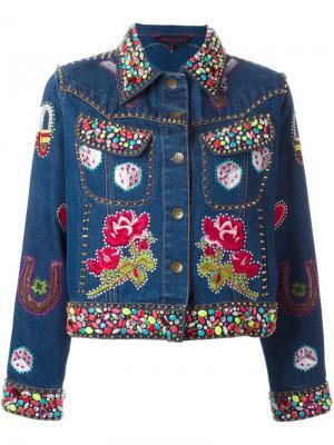 Декорированная джинсовая куртка Manish Arora. Цвет: синий
