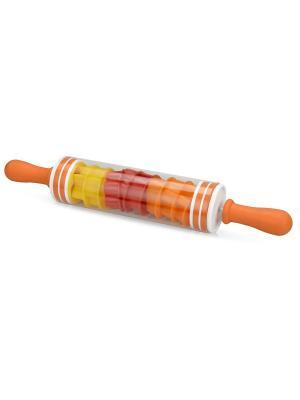 Набор для приготовления печенья: скалка и формочки Дерево Счастья. Цвет: красный,оранжевый,желтый