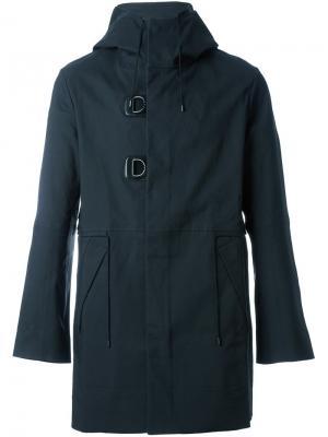 Пальто с капюшоном Oamc. Цвет: чёрный