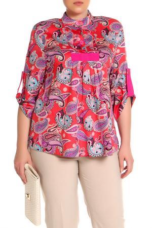 Блуза EVA Collection. Цвет: розовый