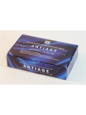Мыло косметическое натуральное ANTIAGE для сухой и зрелой кожи 85 г Царство Ароматов. Цвет: белый