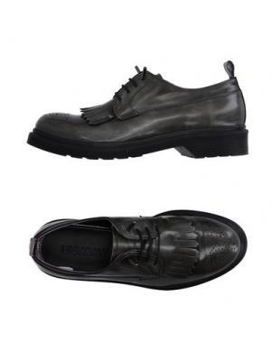 Обувь на шнурках LE QARANT. Цвет: свинцово-серый