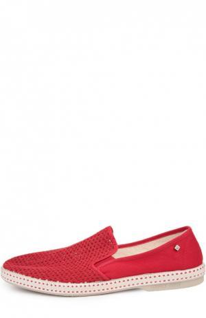 Текстильные эспадрильи Rivieras Leisure Shoes. Цвет: красный