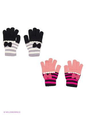 Перчатки FOMAS. Цвет: розовый, черный