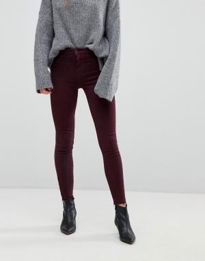 New Look Бордовые джинсы с необработанным низом Vanessa. Цвет: красный