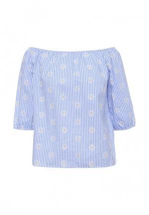 Блуза By Swan. Цвет: голубой