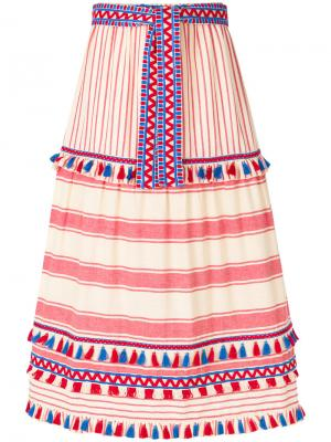 Полосатая юбка Dodo Bar Or. Цвет: красный