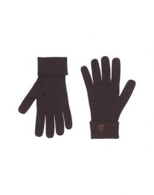 Перчатки DOLCE & GABBANA. Цвет: баклажанный