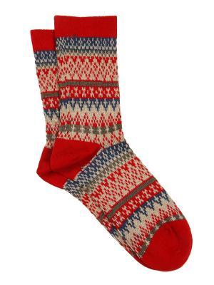 Носки Зувей. Цвет: красный