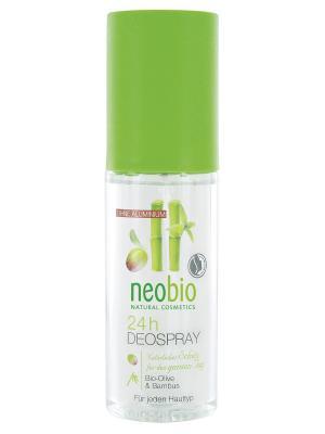 Neobio дезодорант спрей 24 часа с био-оливой и бамбуком. Цвет: прозрачный