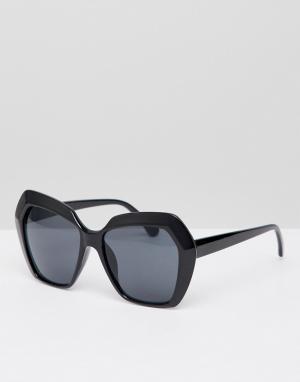 New Look Большие солнцезащитные очки. Цвет: черный