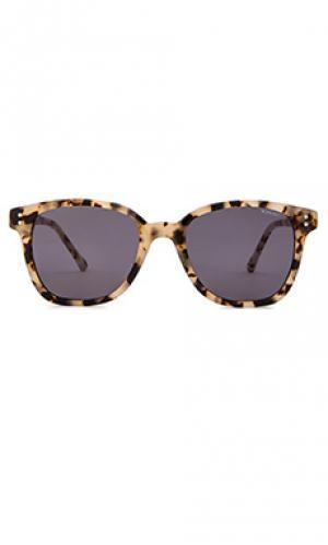 Солнцезащитные очки crafted renee Komono. Цвет: серо-коричневый