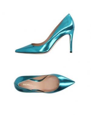 Туфли DEIMILLE. Цвет: бирюзовый