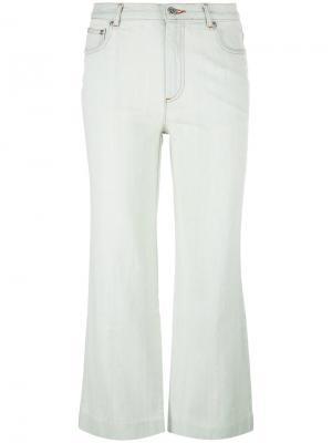 Расклешенные укороченные брюки A.P.C.. Цвет: синий