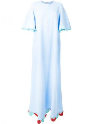 Платье Oversized Flouncy Vika Gazinskaya. Цвет: синий