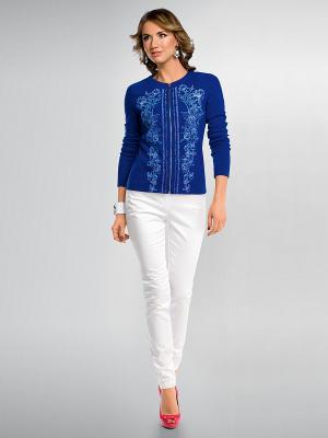 Жакет PELICAN. Цвет: темно-синий, голубой