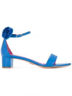 Босоножки Minnie Oscar Tiye. Цвет: синий