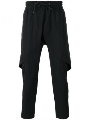Layered track pants D.Gnak. Цвет: чёрный