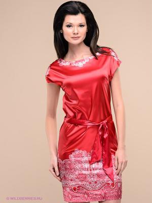 Платье Pompa. Цвет: красный