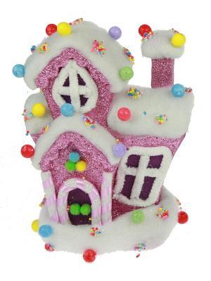 Новогодний сувенир Карамельный домик Русские подарки. Цвет: красный, белый