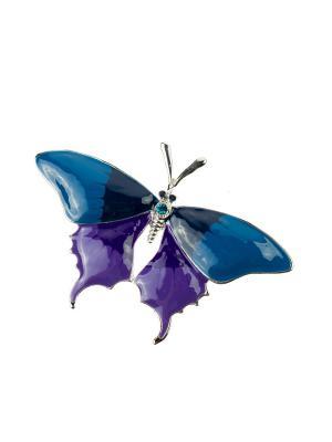 Брошь Bijoux Land. Цвет: синий, серебристый, фиолетовый