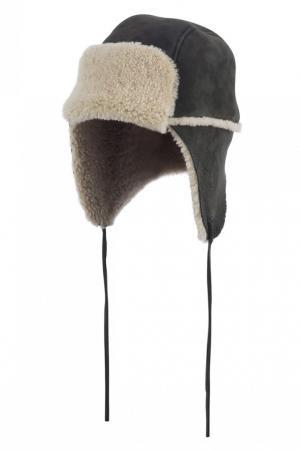 Шапка коричневая из овчины Bonpoint. Цвет: коричневый