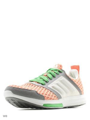 Кроссовки STELLASPORT Yvori Adidas. Цвет: оранжевый, белый, зеленый, серый