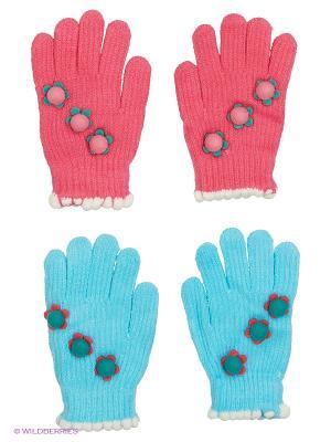Перчатки FOMAS. Цвет: голубой, розовый