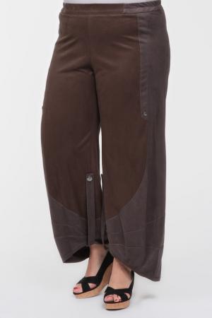 Брюки EVA Collection. Цвет: серо-коричневый